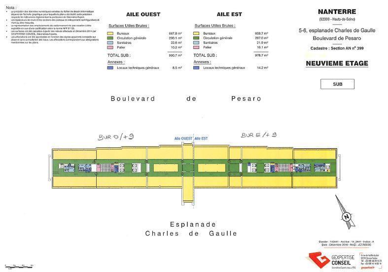 Bureau Location 92000 NANTERRE 5 ESPLANADE CHARLES DE GAULLE