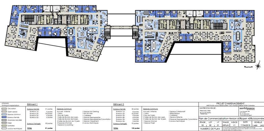 Bureau Location 92700 COLOMBES 9-11 RUE DU DEBARCADERE