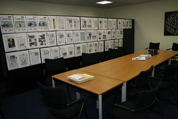 Les bureaux de GLN Médias à Courbevoie