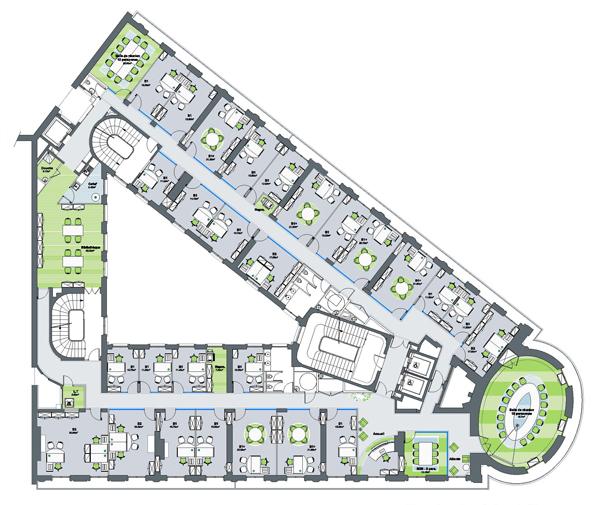 De combien de m avez vous besoin le blog immobilier for Immeuble bureau plan