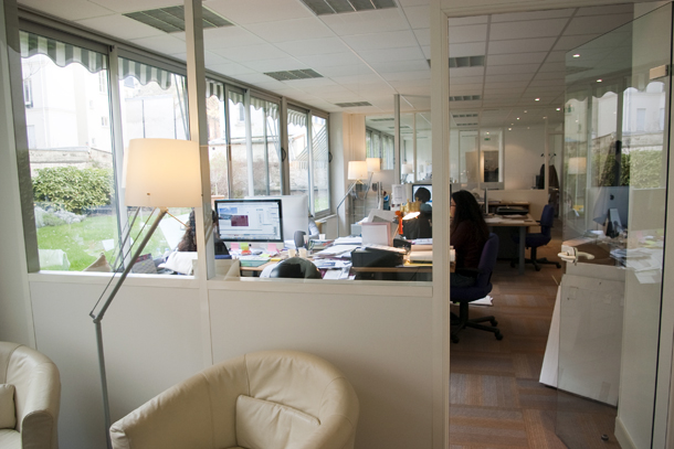 Les bureaux de Because à Levallois