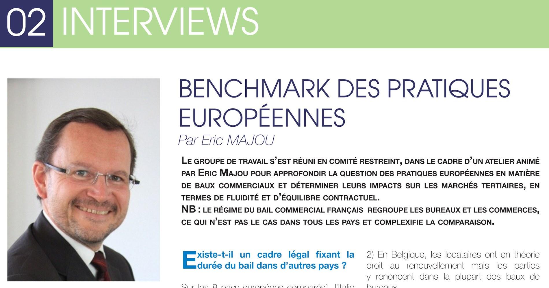 Bail commercial : Benchmark des pratiques européennes