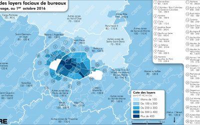Octobre 2016, un m² de bureaux, combien d'euros ?