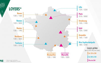 Bureaux en région : un m², combien d'euros au 1er semestre 2018 ?