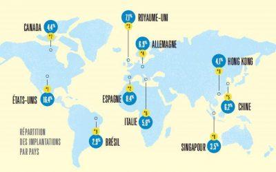Où s'implantent les start-up françaises à l'étranger ?