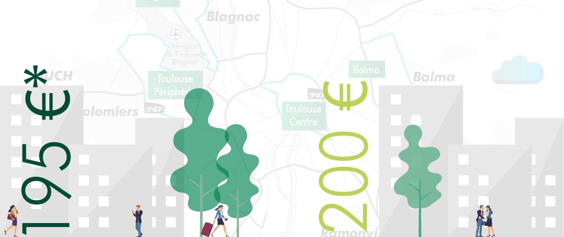 Infographie : le marché de l'immobilier bureaux à Toulouse