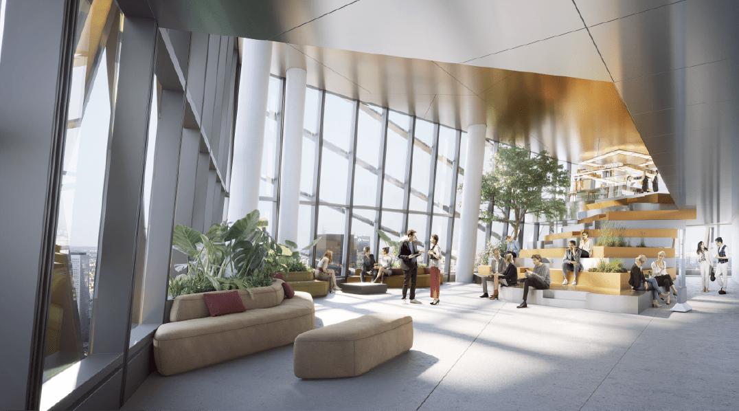 Proposition d'aménagement d'un espace Sky Lounge en duplex au R+47 / R+48 par le Studio Ramy Fischler